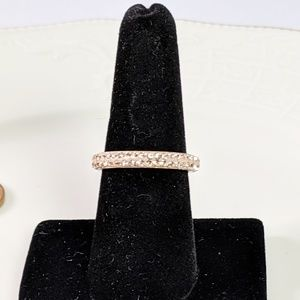 Jewelry - 🌜3 for $25🌛Rhinestone Band Ring Pink Gold Tone
